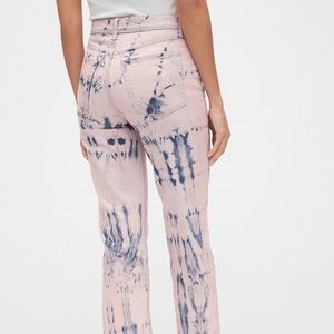 High Rise Tie-Dye Cheeky Straight Jeans Size 20